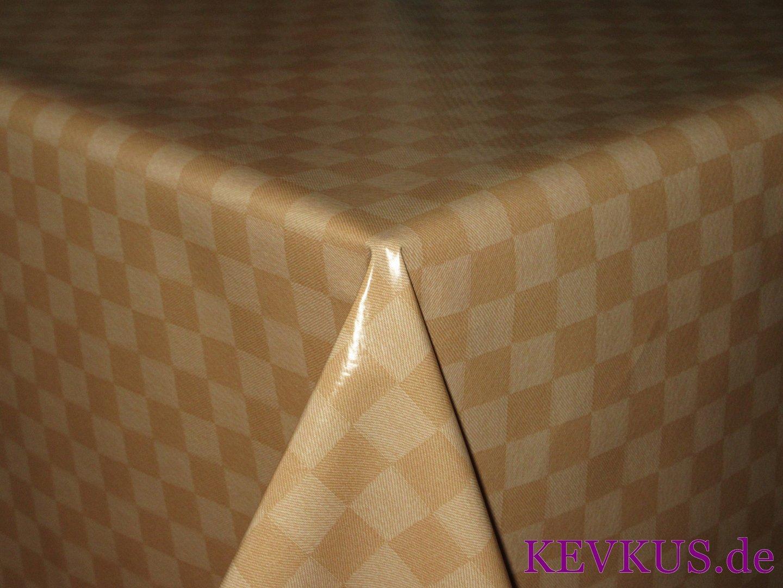 wachstuch tischdecke 5 4 karo beige eckig kevkus. Black Bedroom Furniture Sets. Home Design Ideas