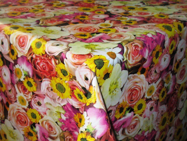 wachstuch tischdecke meterware c147120 rosen blumen eckig. Black Bedroom Furniture Sets. Home Design Ideas