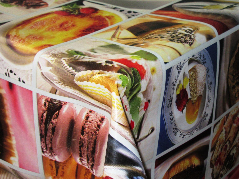 wachstuch tischdecke meterware c147170 desserts k che eckig. Black Bedroom Furniture Sets. Home Design Ideas