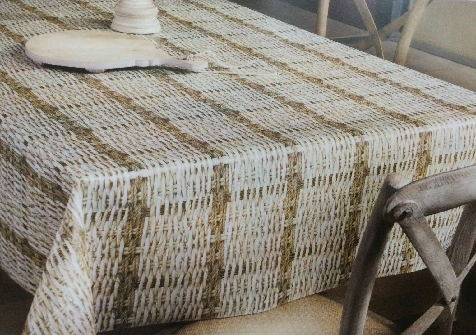 wachstuch tischdecke meterware modern k150181 rattan eckig. Black Bedroom Furniture Sets. Home Design Ideas