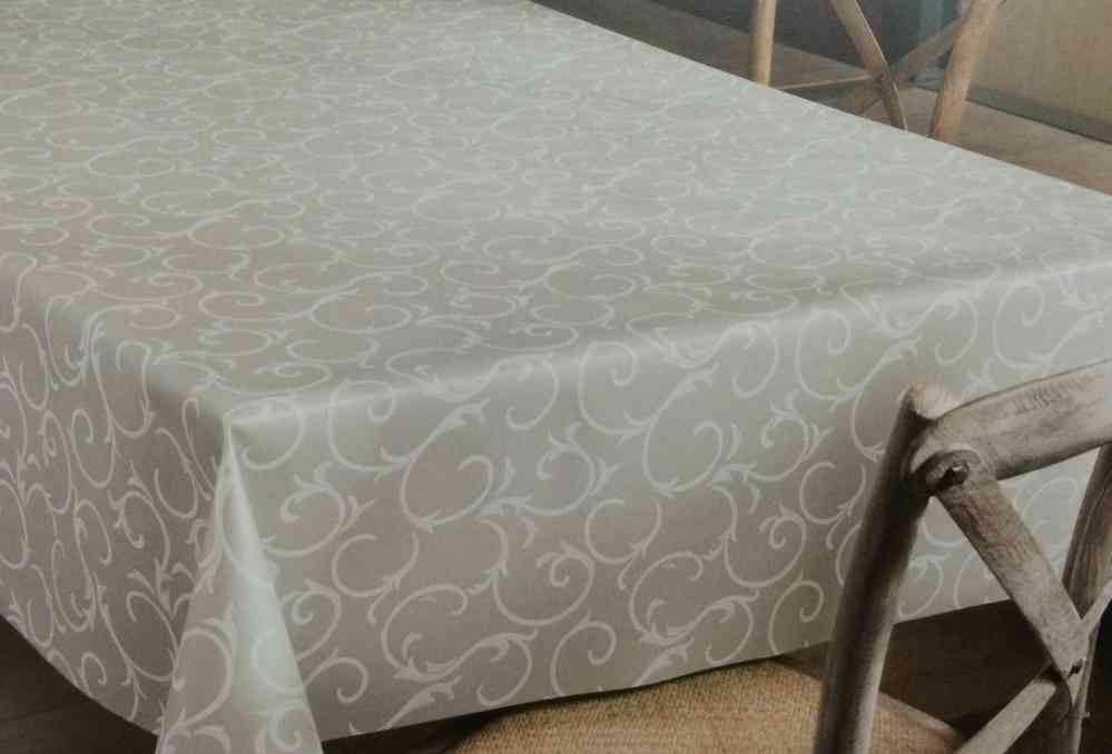 Tischdecken Modern tischdecke meterware modern k150193 barock grau eckig rund oval
