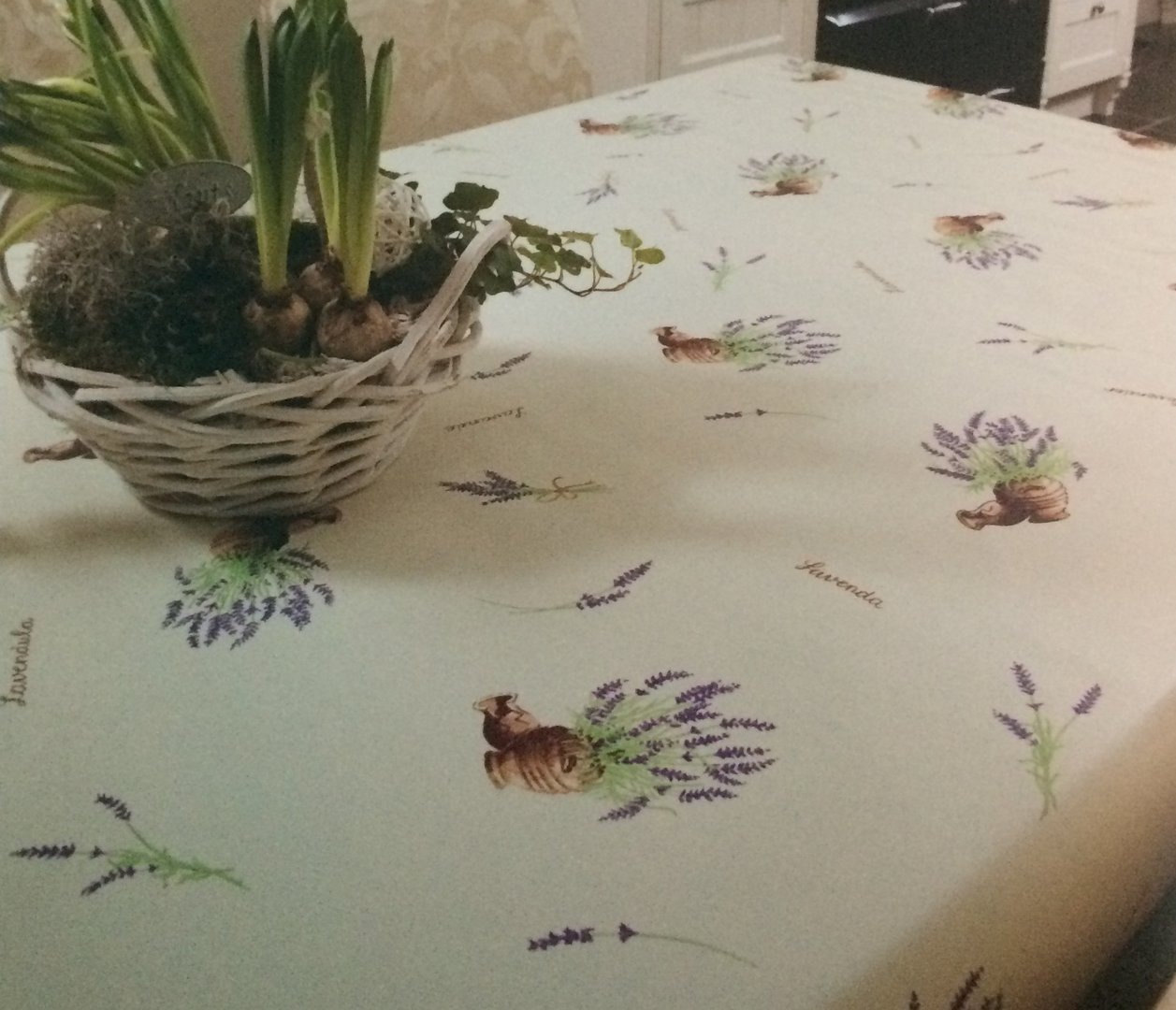wachstuch tischdecke meterware modern k150114 lavendel. Black Bedroom Furniture Sets. Home Design Ideas