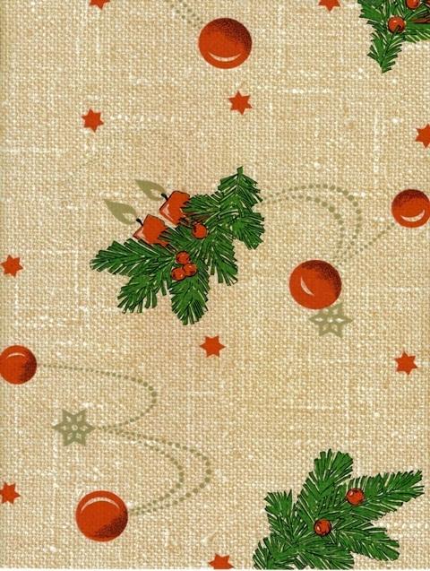 wachstuch tischdecke meterware weihnachten tannenzweig leinenstruktur grob 2412 dlg5 eckig rund oval. Black Bedroom Furniture Sets. Home Design Ideas