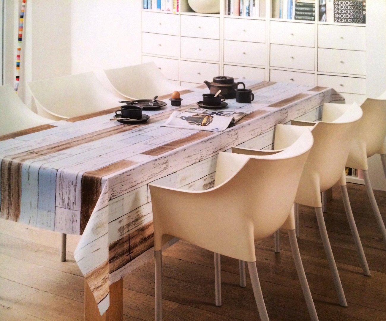 wachstuch tischdecke meterware modern k 150109 holzpanellen eckig rund oval. Black Bedroom Furniture Sets. Home Design Ideas