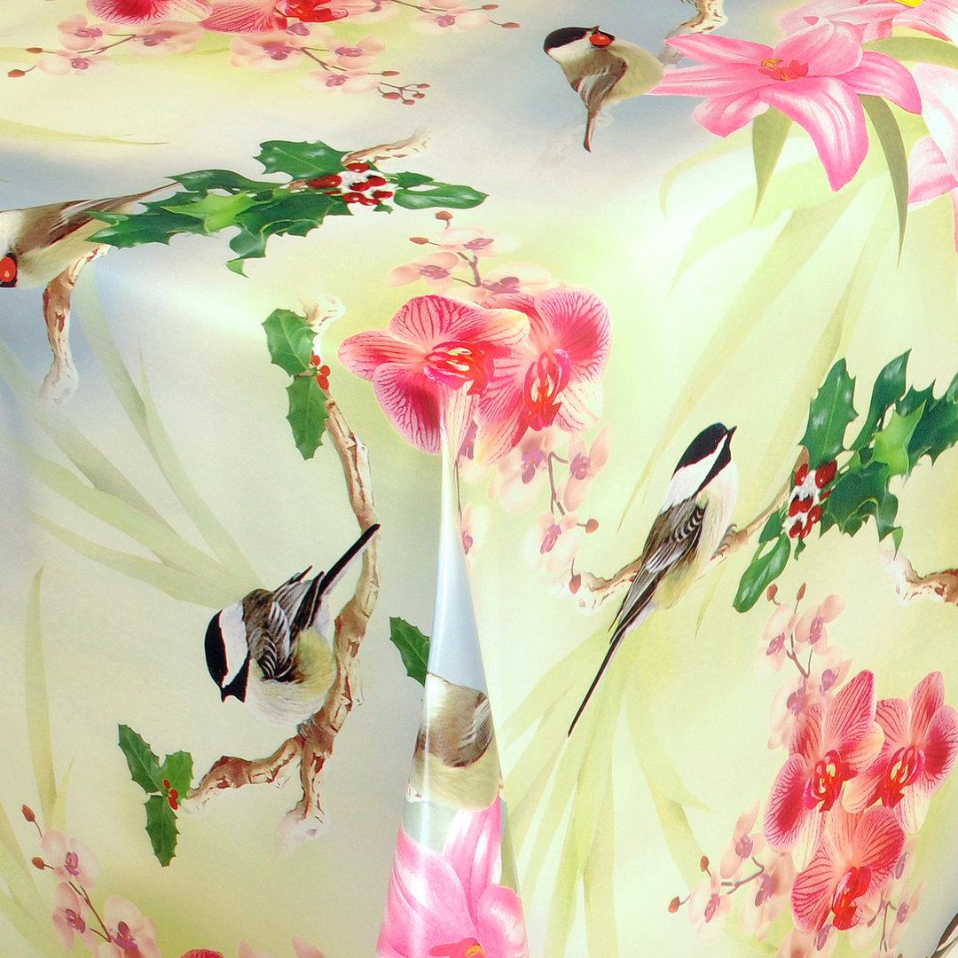 wachstuch tischdecke meterware orchideen vogelbeeren 01227 00 eckig rund oval. Black Bedroom Furniture Sets. Home Design Ideas
