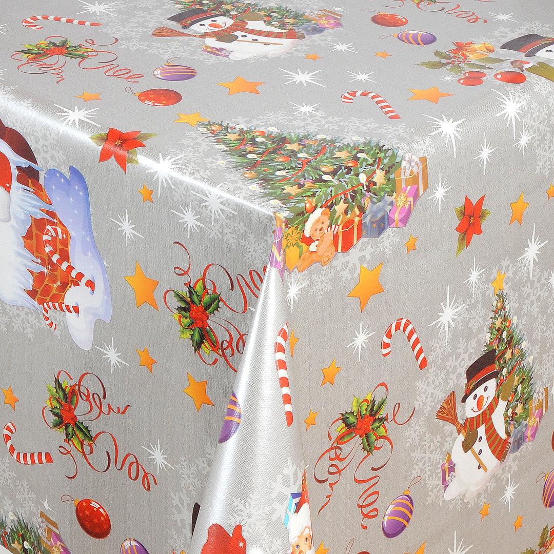 wachstuch tischdecke meterware weihnachten merry christmas 01188 02 eckig rund oval. Black Bedroom Furniture Sets. Home Design Ideas