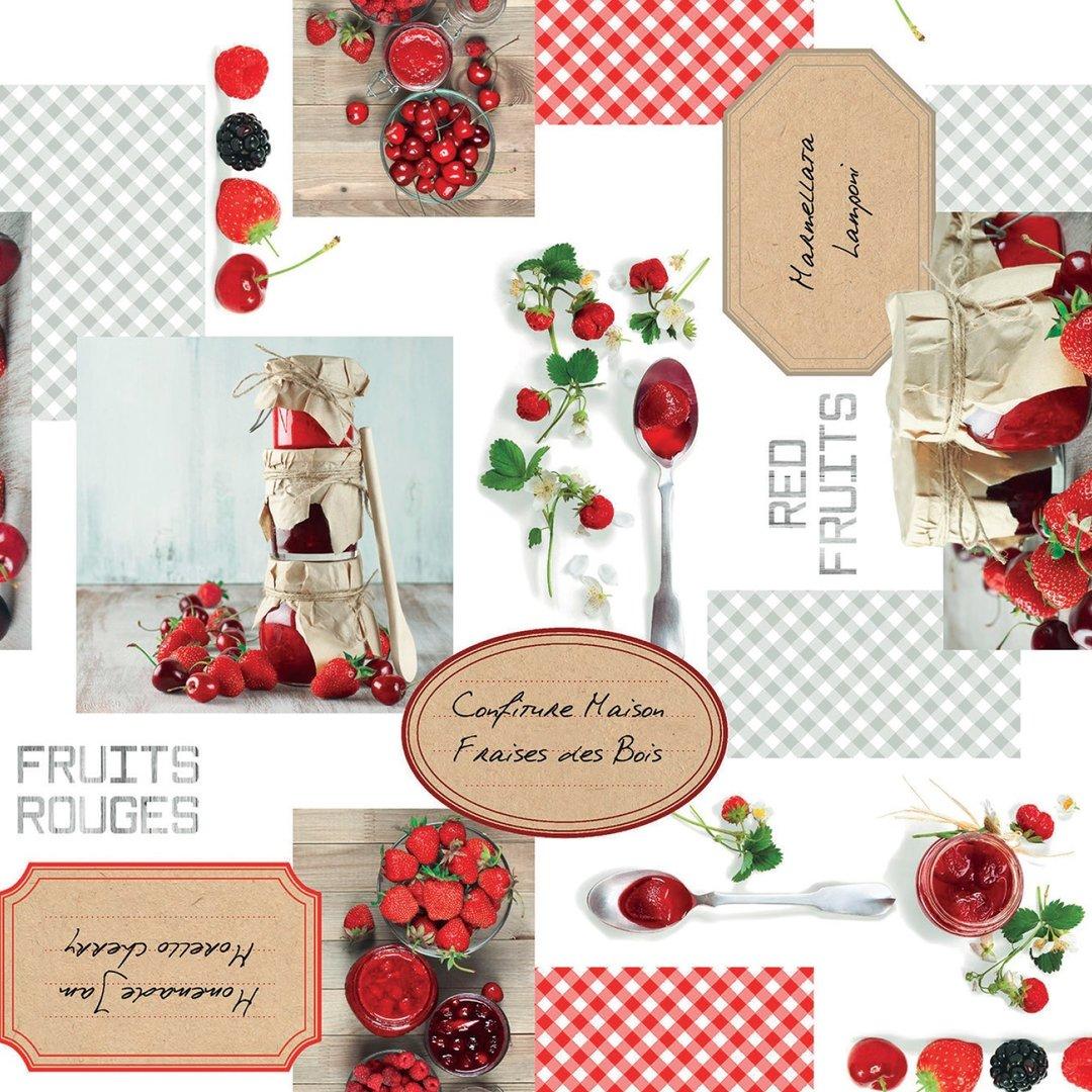 Neu Wachstuch Tischdecke Meterware 160 Cm Breite PREMIUM C177340 Red Fruits  Eckig Rund Oval