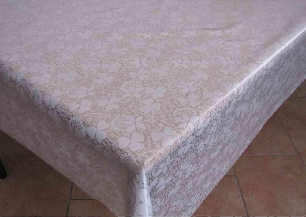 Tischdecke Transparent Bedruckt Kleeblume 94 Meterware Tischfolie Tischschutz