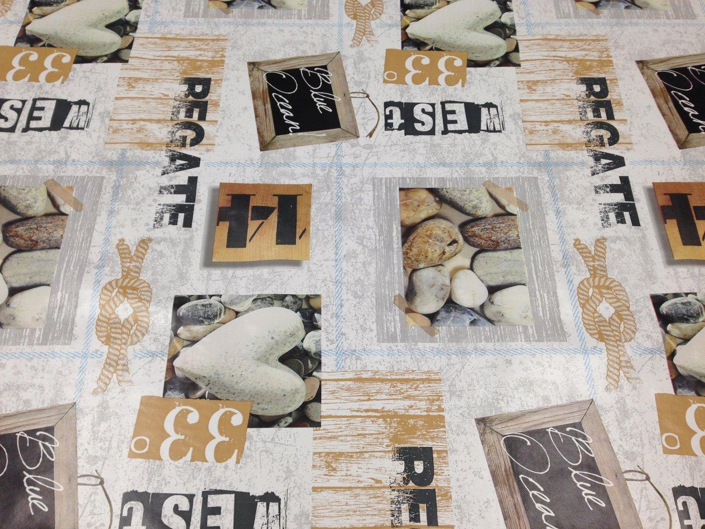 wachstuch tischdecke meterware regate k ste see c144101. Black Bedroom Furniture Sets. Home Design Ideas