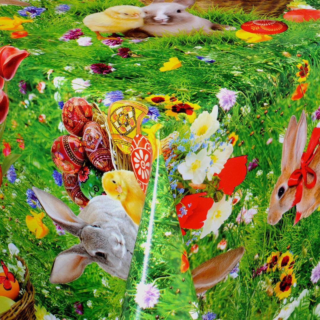 Ostern Wachtuch Tischdecke  Gartentischdecke 140 x 100 cm Osterhasen