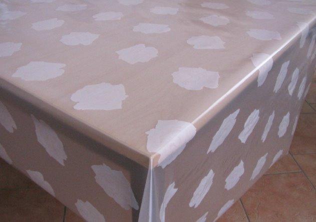 tischfolie transparent unbedruckt bedruckt kevkus onlineshop f r wachstuch tischdecke. Black Bedroom Furniture Sets. Home Design Ideas