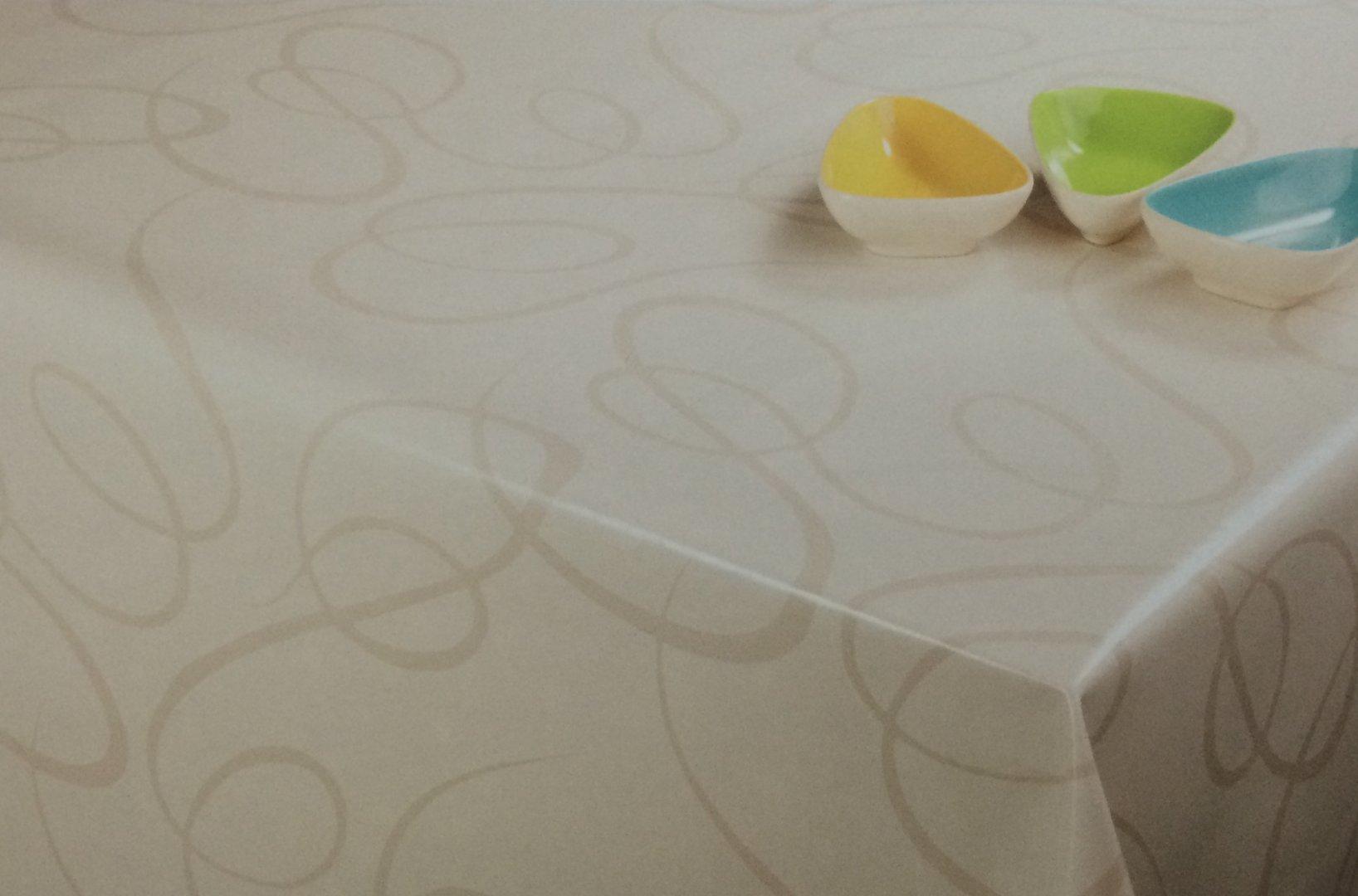 wachstuch tischdecke meterware modern k150136 linien creme eckig rund oval. Black Bedroom Furniture Sets. Home Design Ideas