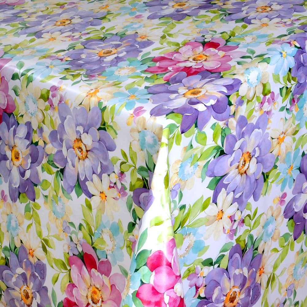 Wachstuch Tischdecke Sommer Blumen 01410-03 eckig rund oval