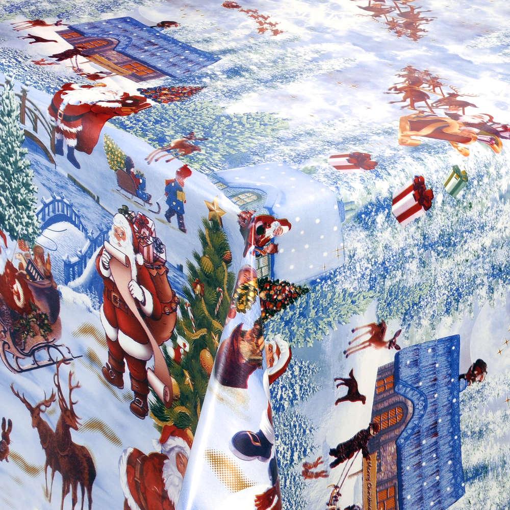 Wachstuch Tischdecke Meterware Weihnachten Winter K25B