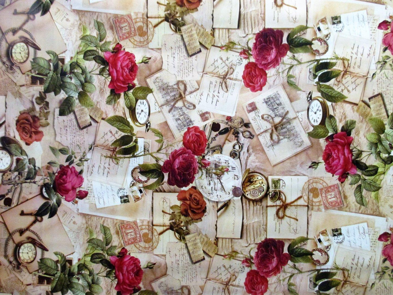 wachstuch tischdecke meterware modern rosen postale k122a eckig rund oval. Black Bedroom Furniture Sets. Home Design Ideas