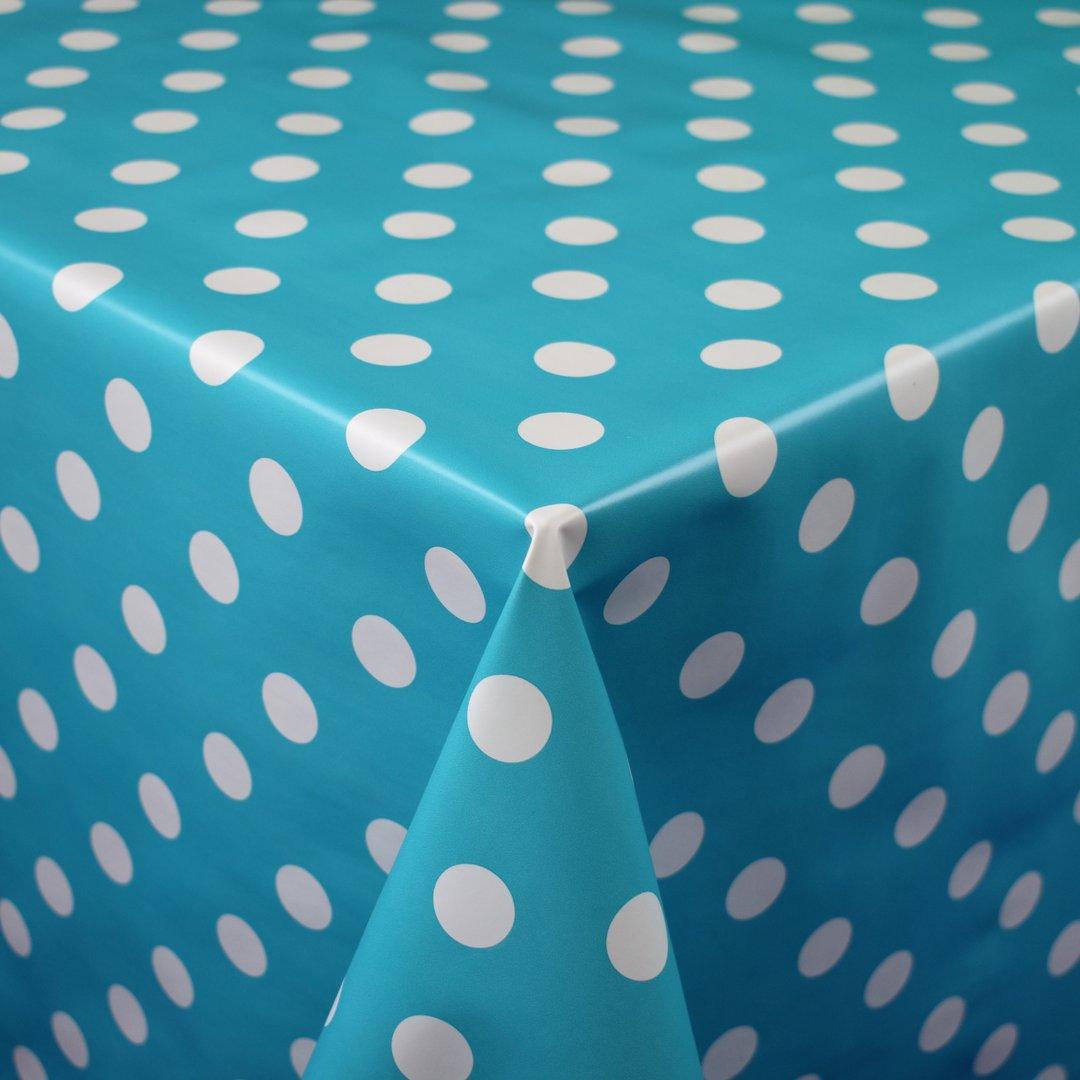 Tischdecke Meterware Wachstuch abwaschbar blau marmoriert